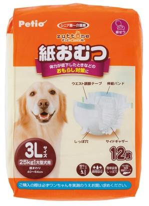 [ペティオ] 老犬介護用 紙おむつ 3L 12枚