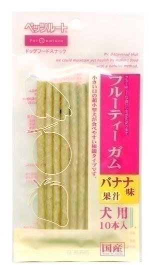 [ペッツルート] ペッツルートフルーティーガムバナナ味10本入