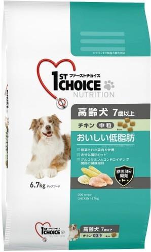 [アース・ペット] ファーストチョイス 高齢犬中粒チキン 6.7kg
