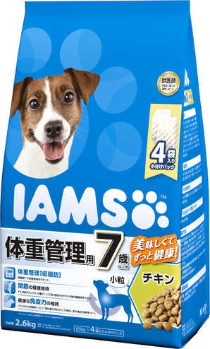 [マースジャパン] IAMAS アイムス 7歳以上用 体重管理用 チキン 小粒 2.6kg