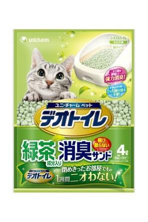 [ユニチャーム] 1週間消臭・抗菌デオトイレ飛散らない緑茶成分入り・消臭サンド4L