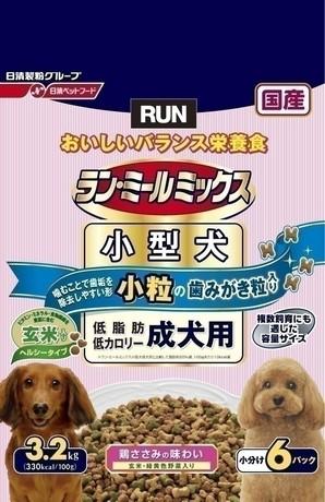 [日清ペットフード] ラン・ミールミックス 小型犬 低脂肪・低カロリー 1歳~6歳までの成犬用 3.2kg
