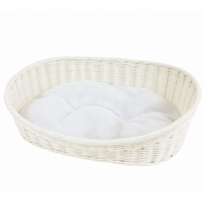 [ペットプロ] 手編みカラーベッドL ホワイト