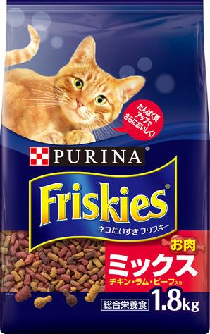 [ネスレピュリナ] フリスキードライ お肉ミックス 1.8kg