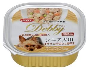 [デビフペット] デビィ シニア犬用 ササミ角切り&野菜 100g
