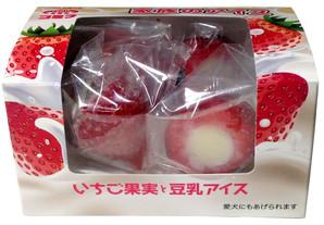 [ホットドッグ] コミフ 家族のアイス いちご果実と豆乳アイス <メーカー直送>
