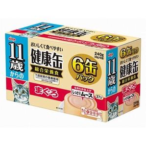 [アイシア] 健康缶 11歳からのしっとりムース まぐろ 6P