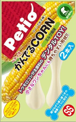 [ペティオ] かんでるCORN ミルク風味 SS 超小型犬用