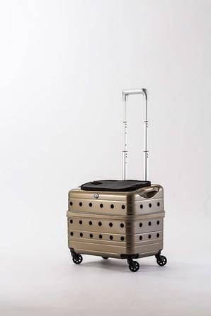[Rui&Aguri] キャリーケース PK-02B-42 シャンパンゴールド ※メーカー直送となります ※通販サイト掲載不可 ※ネット通販での販売不可