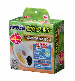 [ジェックス] ピュアクリスタル 軟水化フィルター4P 猫用