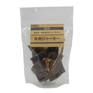 [ペットプロ] 国産おやつ 牛肉ジャーキー(無添加・無着色) 65g