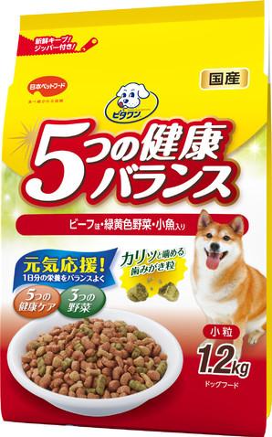 ビタワン 5つの健康バランス ビーフ味・野菜入り 小粒 1.2kg