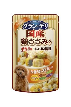 [ユニチャーム] 愛犬元気グラン・デリパウチ 成犬用 鶏ささみ・かぼちゃ入り 60g