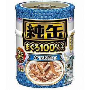 [アイシア] 純缶ミニ3P かつお節入り 3個