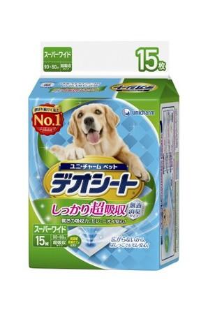 [ユニチャーム] デオシート超吸収無香消臭スーパーワイド15枚