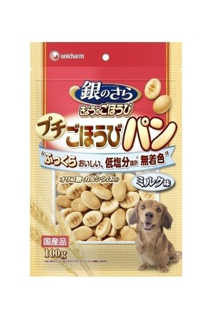 [ユニチャーム] 銀のさら きょうのごほうび プチごほうびパン ミルク味 100g