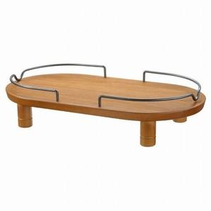 [リッチェル] ペット用 木製テーブル ダブル ブラウン