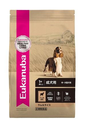 [ユーカヌバ] アダルト ラム&ライス 成犬用 中・大型犬用 1歳以上 13.5kg