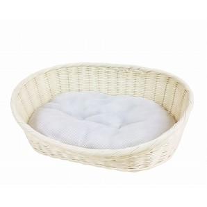 [ペットプロ] 手編みカラーベッドM ホワイト