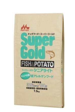 [森乳サンワールド] スーパーゴールド フィッシュアンドポテト シニアライト 7.5kg
