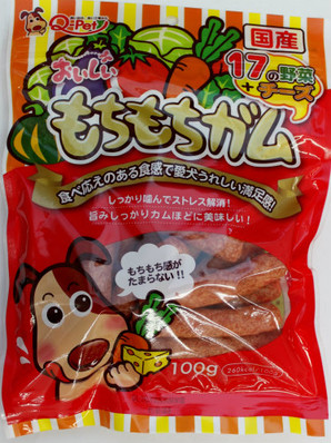 [九州ペットフード] おいしいもちもちガム 野菜&チーズ 100g
