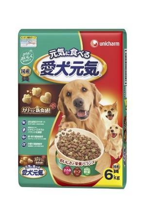 [ユニチャーム] 愛犬元気 ささみ・ビーフ・緑黄色野菜入り6.0kg