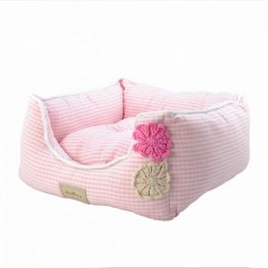 [ラブリー・ペット] Ante Prima アンテフラワー ベッド クッション付き ピンク Mサイズ