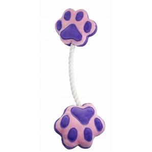 [ペットプロ] 足型ひっぱりロープ 紫