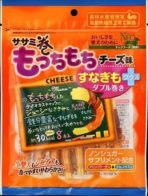 [シーズイシハラ] NEO ササミ巻きもっちもちチーズ味 すなぎもプラス 8本