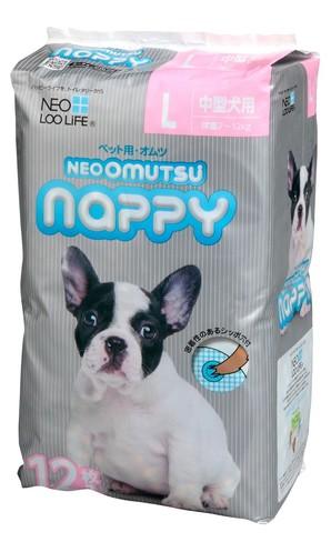 [コーチョー] NEO OMUTSU ネオ・オムツ Nappy L12枚 中型犬用