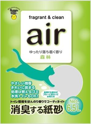 [スーパーキャット] air 消臭する紙砂 森林 6.5L