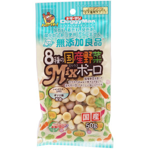 [ドギーマンハヤシ] 無添加良品 8種の国産野菜MIXボーロ50g