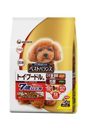 [ユニチャーム] 愛犬元気ベストバランス トイ・プードル用7歳以上用 チキン・野菜・小魚・玄米入り2kg