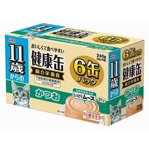 [アイシア] 健康缶 11歳からのしっとりムース かつお 6P