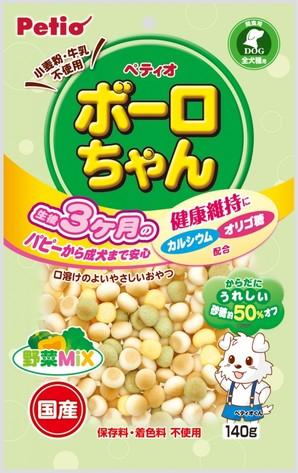 [ペティオ] 体にうれしい ボーロちゃん 野菜Mix 140g