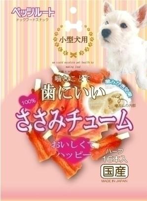 [ペッツルート] 小型犬用ささみチューム 16本入