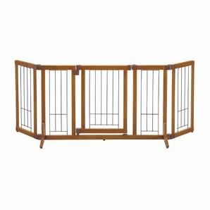 [リッチェル] ペット用 木製おくだけドア付ゲート M