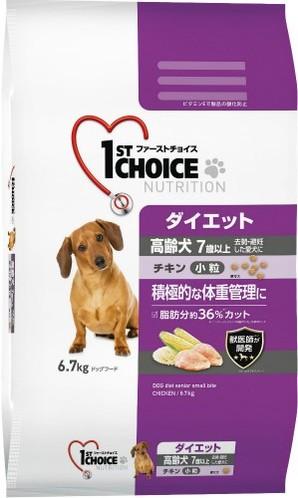 [アース・ペット] ファーストチョイス 高齢犬ダイエット小粒チキン 6.7kg
