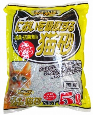 [ペットプロ] あまえんぼ においを吸収する猫砂 5L