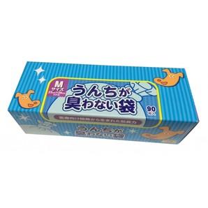 [クリロン化成] うんちが臭わない袋BOS ペット用 箱型 Mサイズ 90枚