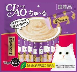 [いなばペットフード] CIAO ちゅ~る かつお ほたてミックス味 14g×20本