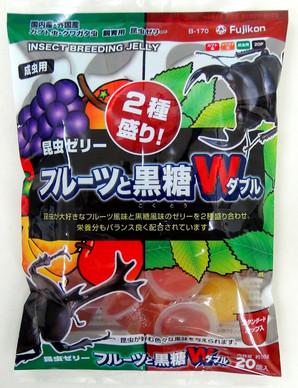 昆虫ゼリーフルーツと黒糖ダブル20P