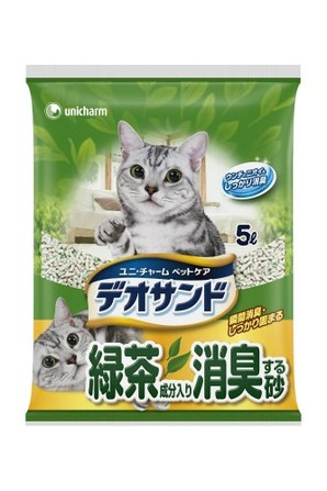 [ユニチャーム] デオサンド 緑茶成分入り消臭する砂 5l