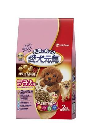 [ユニチャーム] 愛犬元気 健康に育つ子犬用 チキン・ささみ・緑黄色野菜・小魚入り 2.0kg