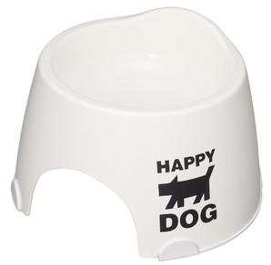 [伊勢藤] 小型犬専用 フードボール (すべり止め付)  白