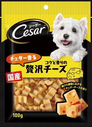 [マースジャパン] シーザースナック チェダー香るコクと香りの贅沢チーズ 100g