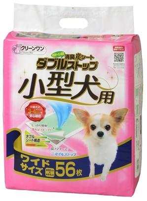 [シーズイシハラ] クリーンワン 消臭炭シート ダブルストップ小型犬用 ワイド 56枚