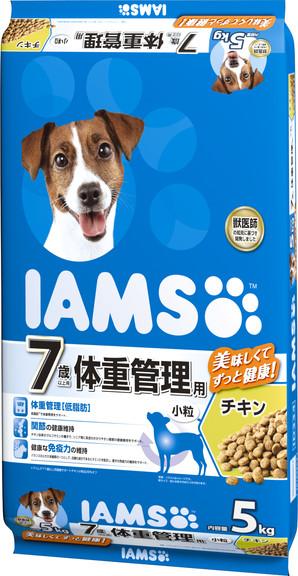[マースジャパン] IAMAS アイムス 7歳以上用 体重管理用 チキン 小粒 5kg