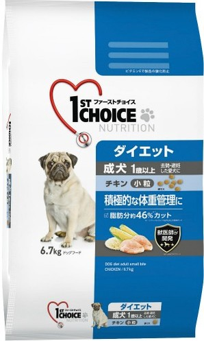 [アース・ペット] ファーストチョイス 成犬ダイエット中粒チキン 6.7kg