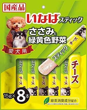 [いなばペットフード] スティック 愛犬用 ささみと緑黄色野菜 チーズ 15g×8本